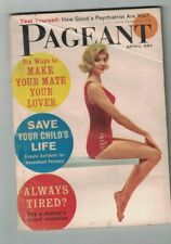 Pageant Magazine April 1961 Peter Falk Princess Margaret John Russell Lowell