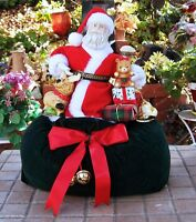 """Decorative Santa Claus Sitting on Been Bag With Presents 14"""" Tall, NICE!!"""