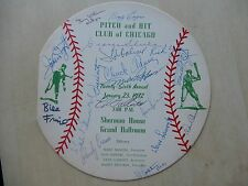 """1972 8"""" Diameter Pitch And Hit Club Of Chicago Program with 18 Autographs"""