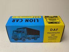 JUST THE BOX NO MODEL OF DAF VRACHTAUTO MET GESLOTEN LAADBAK LION CAR NR.23