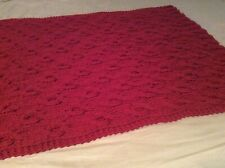 Handmade Cable Knit Throw Afghan New
