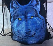 Wolf bag/Shoulder bag/Back Pack, Leisure/Sports Bag, Drawstring, 19 x 15 Inches