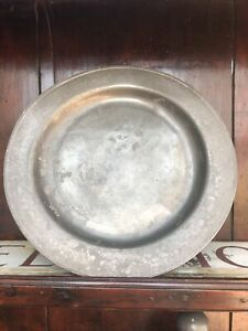 London PEWTER Plate STAMPED