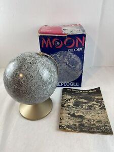 Vintage 1969 Moon Globe Replogle 6 Inch Lunar Globe