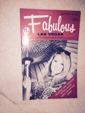 Fabulous Las Vegas Magazine Rusty Warren Kay Starr Jacqueline Moore 9/12/1970