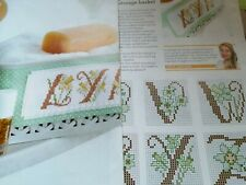 CROSS STITCH CHART FULL  ALPHABET CHARTS DAFFODIL LETTERS SPRING FLOWER ABC
