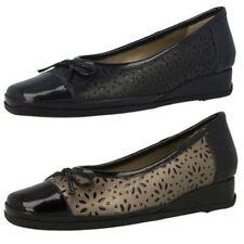 Wedge Leather Slip On Heels for Women