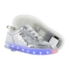Heelys Premium 1 lo con Luz Zapatos - Cromado + Gratis Cómo a DVD
