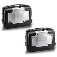 Set di due valigie bauletto MONOKEY Kappa Garda 33L cover argento KGR33PACK2
