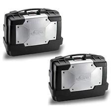 Valigie Laterali Kappa Garda 33 litri KGR33PACK2 MONOKEY nero cover argento