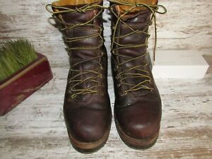 HERMAN SURVIVORS Logger Work Boots Men SZ 13M Leather USA Vibram Sole
