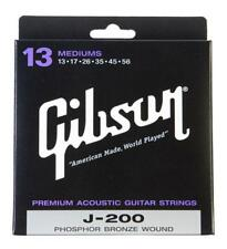 SUPER Gibson j200m corde FOSFORO BRONZO MEDIUM .013 - .056 made in USA