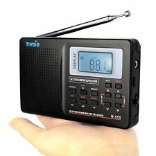 Am Fm Sw Portable Radio Digital Pocket Travel Stereo Clock And Alarm Antenna LED