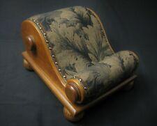 Rare Antique 1890s Victorian Sheraton Slant Legs Foot Rest Gout Footrest