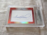 Frank & Brooks Robinson 2017 Leaf Masterpiece Cut Signature 1/1 signed card JSA