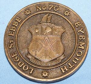 VINTAGE MASONIC MARK TOKEN LODGE ST EBBE No 70 EYEMOUTH SCOTLAND FREEMASONRY EF