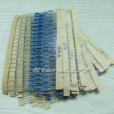1000pcs 1/4W 5% Carbon Film Resistor Combination 50 Values