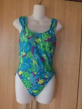 Sassafras Swimwear one piece multicolor floral swimsuit  size 38
