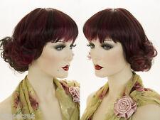Medium Straight Blonde Brunette Red Wigs