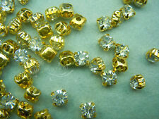 Loose crystal sew on rhinestone SS28 Golden clear 720 pcs