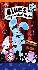 Blues Clues Blue's Big Musical Movie VHS 2000 Nick Jr. Nickelodeon Kid Children