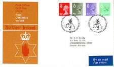 24 FEBRUARY 1982 ALL 4 N IRELAND DEFINITIVES PO FIRST DAY COVER BUREAU SHS