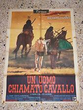 MANIFESTO ORIGINALE 2F O8 UN UOMO CHIAMATO CAVALLO RICHARD HARRIS