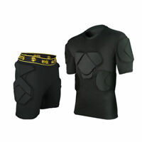 Football Soccer Men's Goalie Goalkeeper  Crashproof Short Sleeve Pants Protector