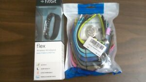 Fitbit Flex Fitness Tracker Navy lg & small bands + 15 add'l color bands & deco