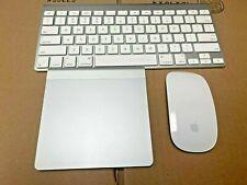 LOT Apple Magic Mouse Keyboard Trackpad Bundle A1296 A1339 A1314