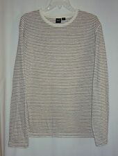 HUGO BOSS Slim Fit Striped Linen Cotton Long Sleeve Mens Shirt  Size XXL
