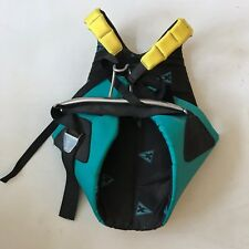 Gaastra Sails Vest Surf Windsurf Sailing Metal Bar Hook Turquoise Yellow S-M