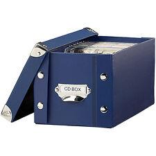 PEARL CD Archivbox: CD Archiv Box blau (CD DVD Archivboxen, CD Archivierung)