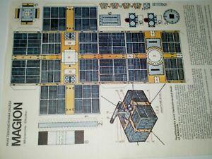 Czechoslovak Satellite Magion Czechoslovak rare Paper Model