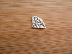 NICE HAMMERED KING HENRY II SILVER SHORT CROSS CUT FARTHING QTR PENNY COIN B