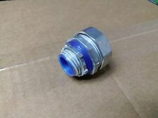 "(25 pc) Liquid Tight Connector Straight Zinc Die Cast 1/2"" Liquidtight Insulated"
