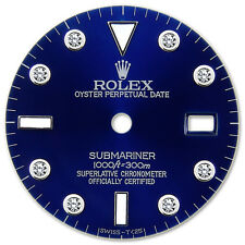 Rolex Submariner Stainless Steel Blue Color 8 Round Diamond Dial