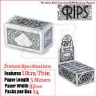 Rips Extra Fina Normal Cigarrillo Papel de liar 3-6-12 & 24 Paquetes Caja Llena