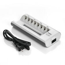 US- 8 Bay Univeral Battery Charger For AA AAA Ni-MH Ni-CD Rechargeable Batteries