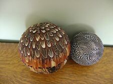 Pottery Barn Feathered Spheres Vase Filler SET/2 ~ SOLD OUT@PB