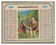 ALMANACH CALENDRIER  PTT  1970 BE ANNIVERSAIRE