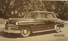 "1949 Dodge Meadowbrook 4-Door Sedan, b&w dealership postcard, 5 1/2"" x 3 1/4"""