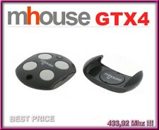 MHouse GTX4 remote control keyfob  433,92 MHz 4-channel compatible with TX3, TX4