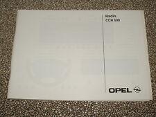 Bedienungsanleitung Opel Radio CCR 600, Ausgabe 08/01 (neu) #rkta2482
