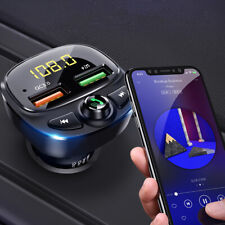 Bluetooth Wireless 5.0 FM Transmitter QC3.0 Car USB Charger Adapter Radio Player