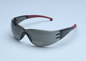 ELVEX RX400G BI FOCAL SAFETY GLASSES - GREY - VARIOUS DIOPTERS - HIGHEST QUALITY
