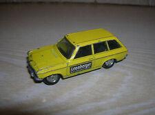 """Schuco 1:66 Opel Ascona A Voyage Werbemodell """"Leonberger"""" in gelb ! 70er Jahre"""