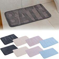 Non Slip Back Soft Luxury Bath Mats Absorbent Bathroom Shower Plush Fabric Rug