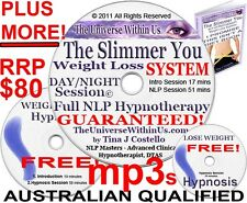 WEIGHT LOSS HYPNOSIS WEIGHTLOSS HYPNOTHERAPY SET mp3 s on CD SYSTEM CLINICAL NLP