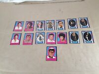 """Lot of 15 Star Trek """"sticker"""" Trading Cards 1979 Paramount See Pictures"""